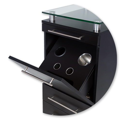 Black Amy Station with Tilt-Out Tool Drawer alternative product image 3