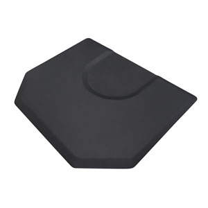 Hexagon 4x5 Salon Anti-Fatigue Mat Round Impression product image