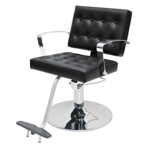 Arlene Salon Styling Chair with Italian Chrome Arms product image