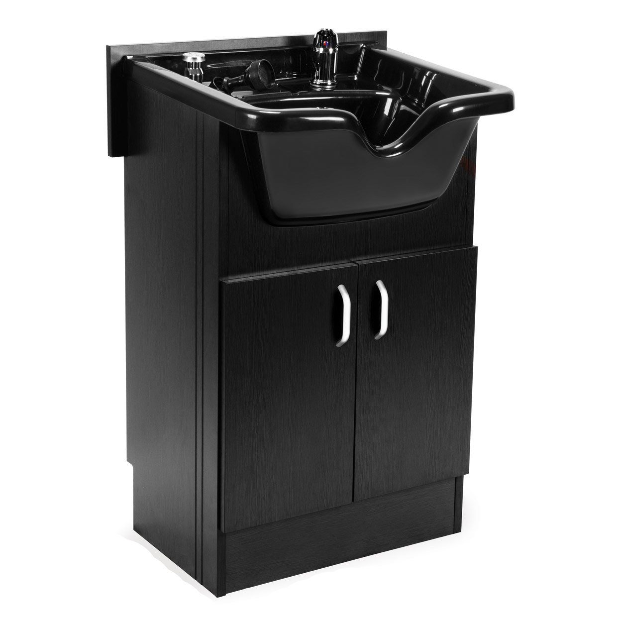 Black Shampoo Bowl With Cabinet Station  main product image