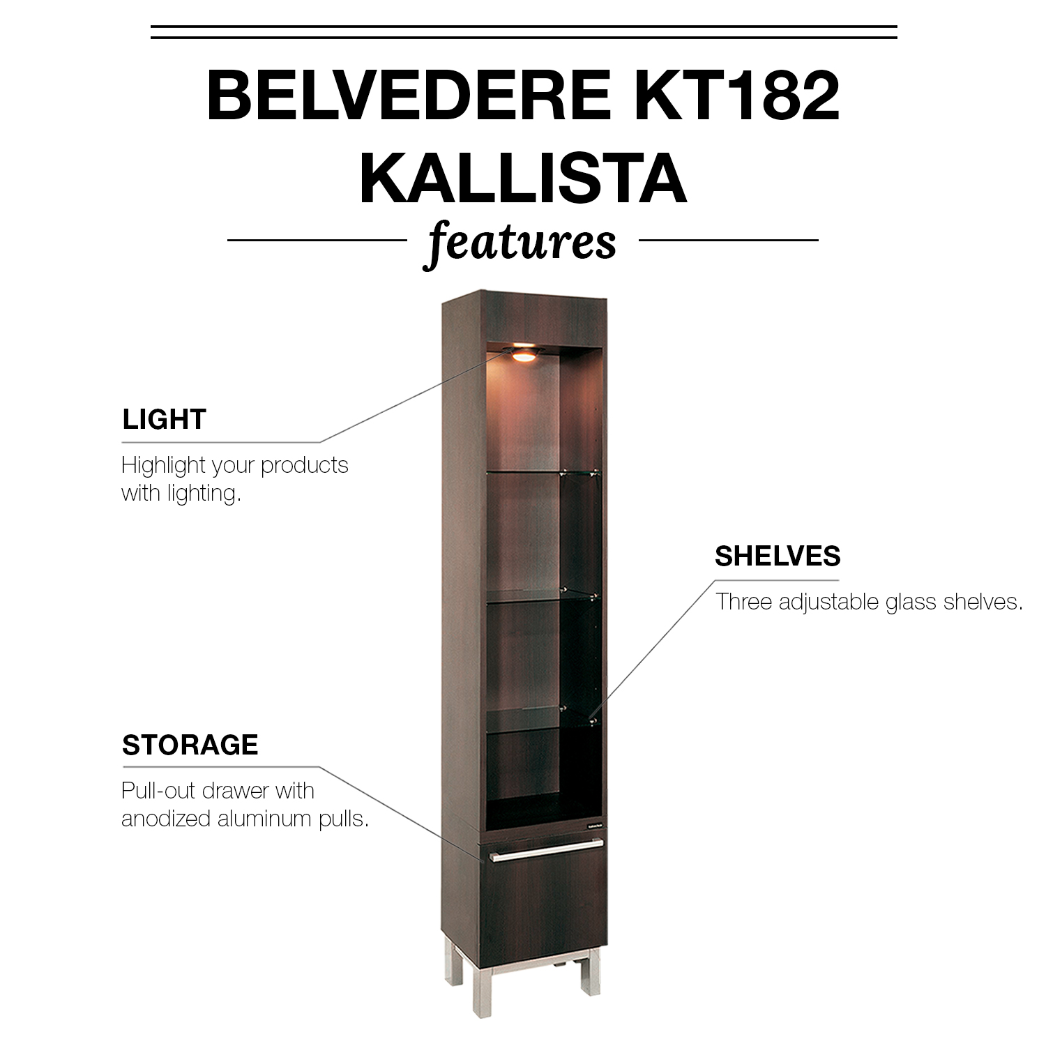 Belvedere KT182/KT183 Kallista Retail Display Cases alternative product image 4