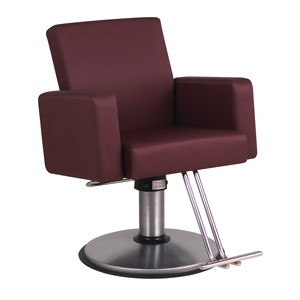 Belvedere Plush Salon Styling Chair with Square Sides product image