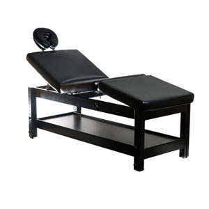 Adjustable Massage / Facial Bed with Black Cushions product image