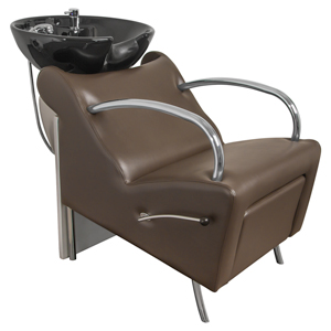 Brown Stockholm Shampoo Chair with Black Bowl product image
