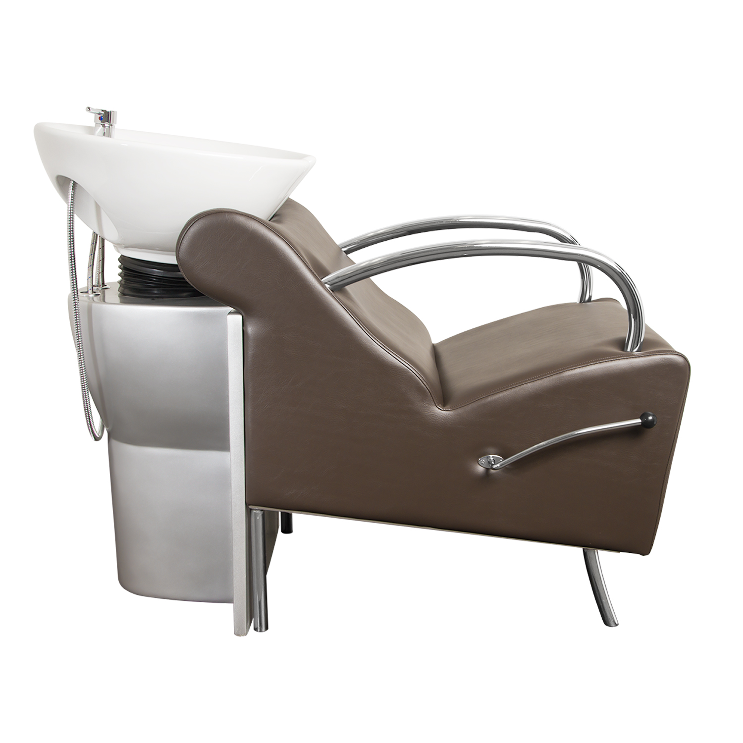 Brown Stockholm Shampoo Chair with White Bowl alternative product image 5