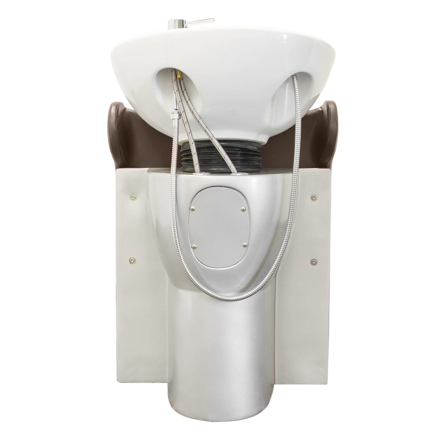 Brown Stockholm Shampoo Chair with White Bowl alternative product image 4