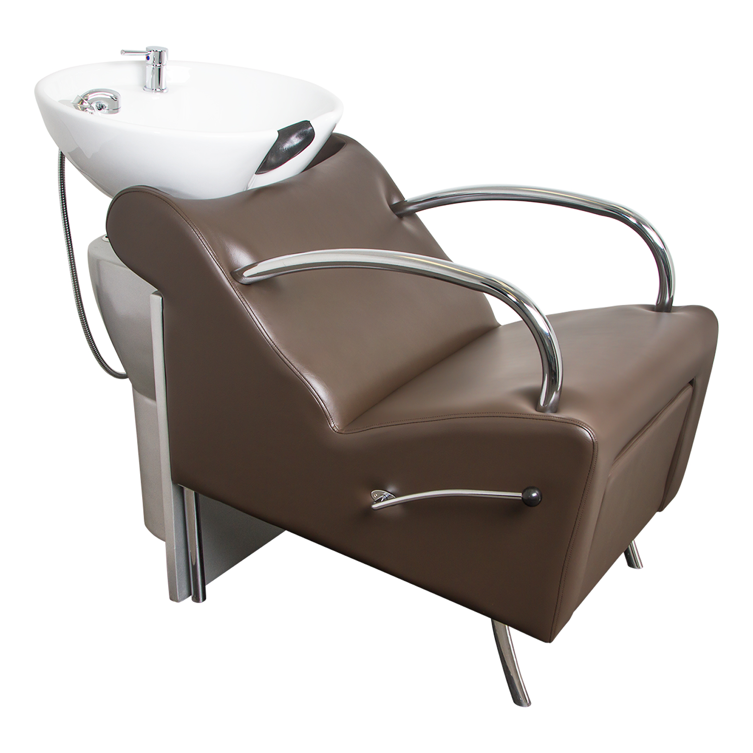 Brown Stockholm Shampoo Chair with White Bowl alternative product image 2