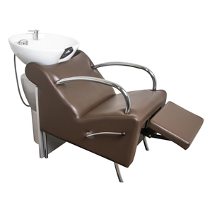 Brown Stockholm Shampoo Chair with White Bowl product image