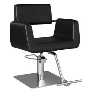 Capelli Modern Hair Chair with Chrome Elbow Brackets product image
