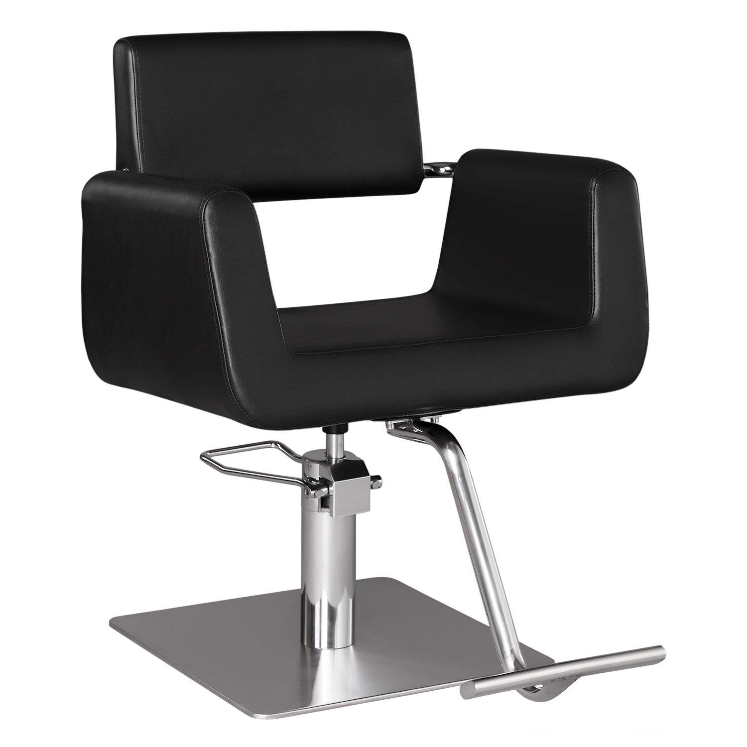 Capelli Modern Hair Chair with Chrome Elbow Brackets  main product image