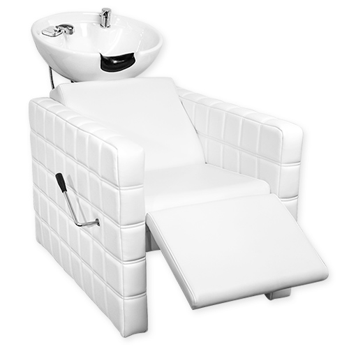 Chelsea Quilted Shampoo Bowl and Chair White alternative product image 4