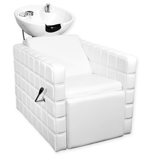 Chelsea Quilted Shampoo Bowl and Chair White alternative product image 3