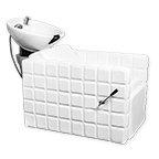 Chelsea Quilted Shampoo Bowl and Chair White product image