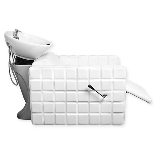Chelsea Quilted Shampoo Bowl and Chair White alternative product image 2