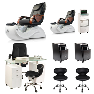 Black 2 Cleo GX Pedicure Spa Chair & Manicure Station Package product image