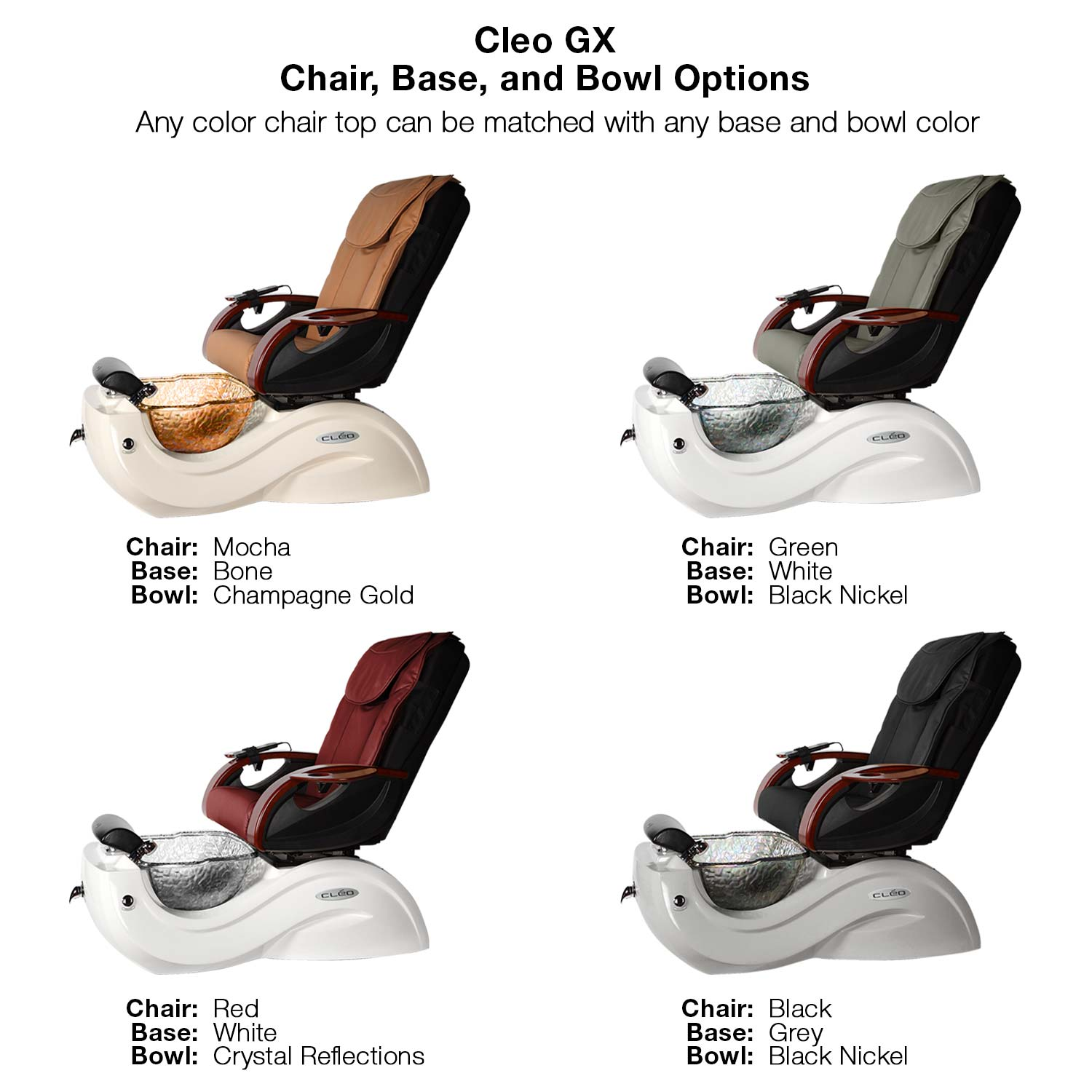 Cleo GX  Pipeless Spa Pedicure Chair w/ Venting Option alternative product image 2