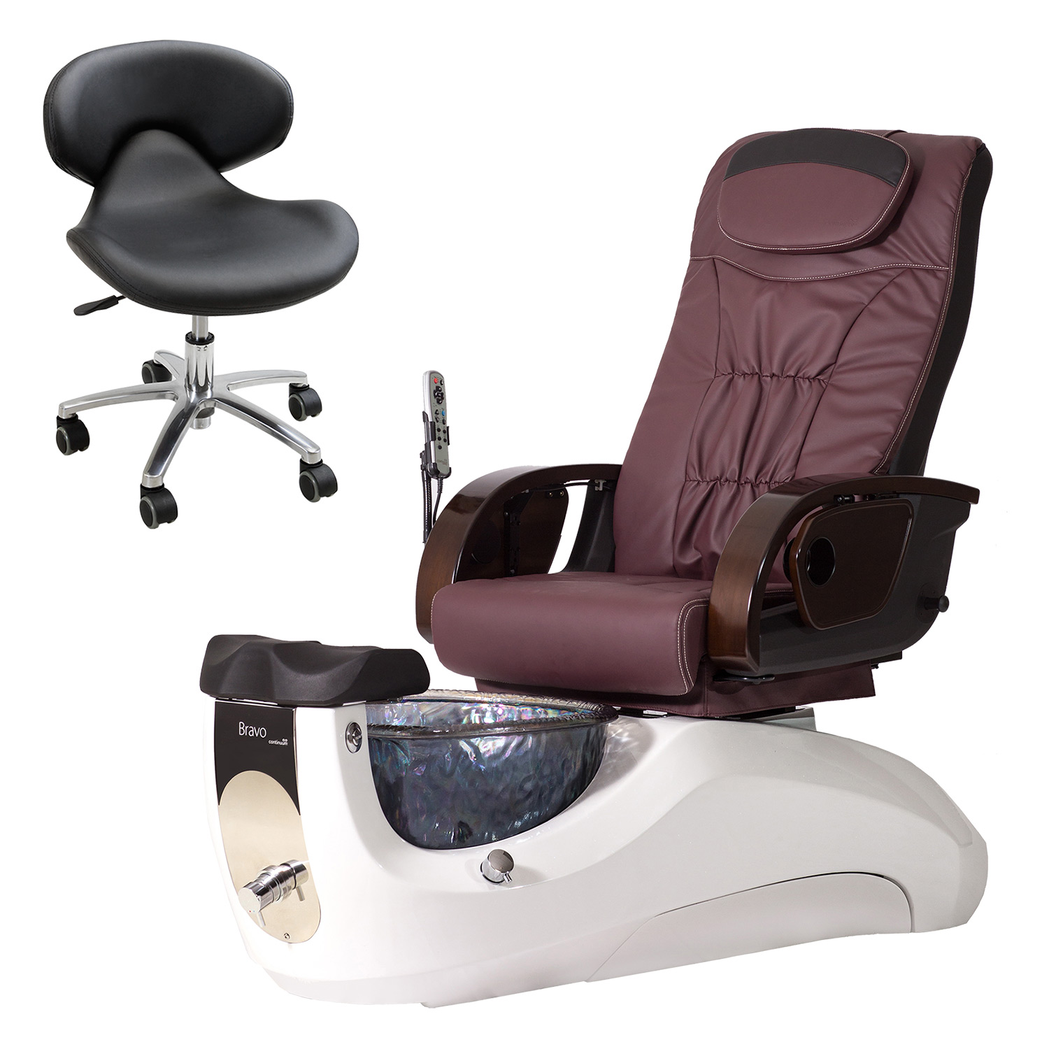 Continuum Bravo with Glass Basin Pedicure Spa Chair  main product image