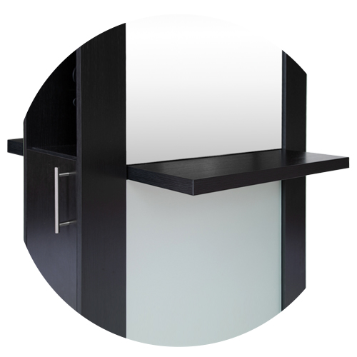 Lauren Double Sided Mirrored Hair Station Black alternative product image 2
