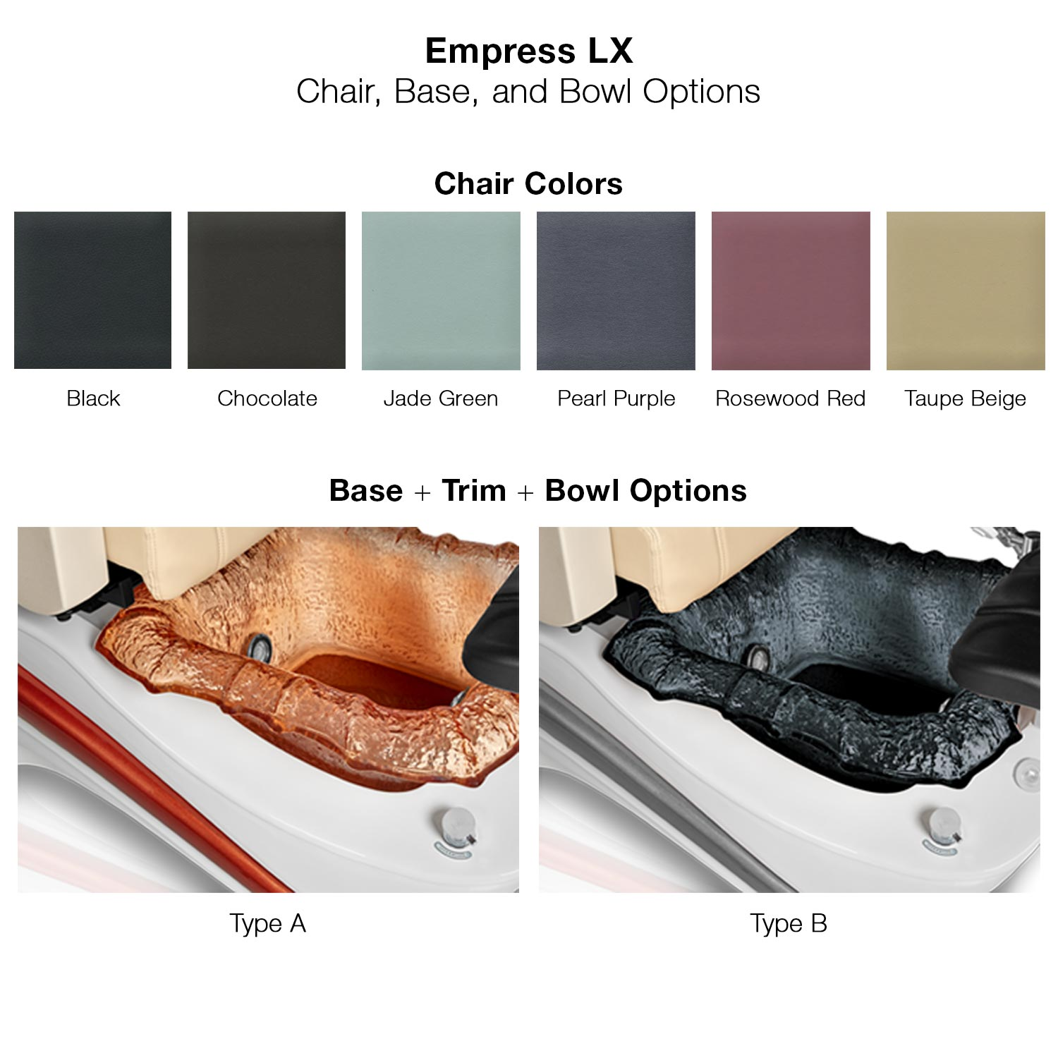 Empress LX Pipeless Pedicure Spa Chair alternative product image 3