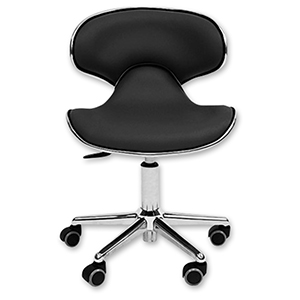 Ergonomic Manicure Stool Black product image