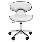 Ergonomic Salon Stool White product image