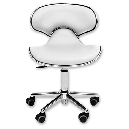 Ergonomic Salon Stool White  main product image