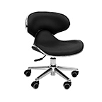 Ergonomic Pedi Stool Black product image