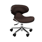 Ergonomic Pedi Stool Brown product image