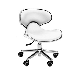Ergonomic Pedi Stool White product image