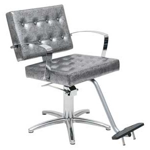 Custom Arlene  Salon Styling Chair With Silver Arms product image