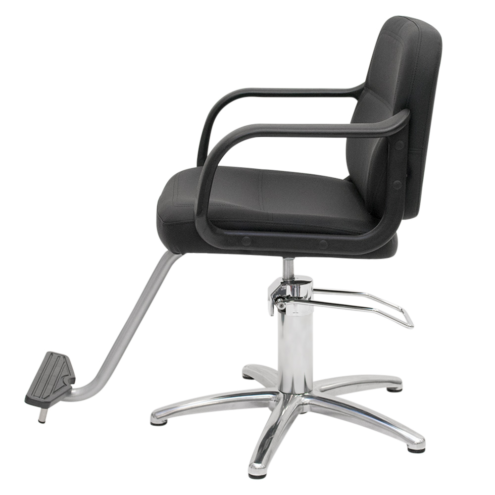 Black Landon Salon Styling Chair with Round Base alternative product image 7