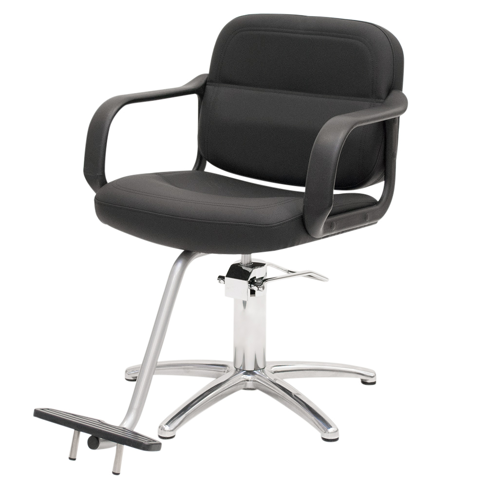 Black Landon Salon Styling Chair with Round Base alternative product image 6