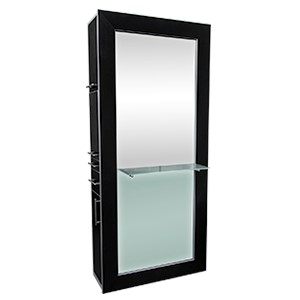 Fusion Mirrored Styling Station Black product image