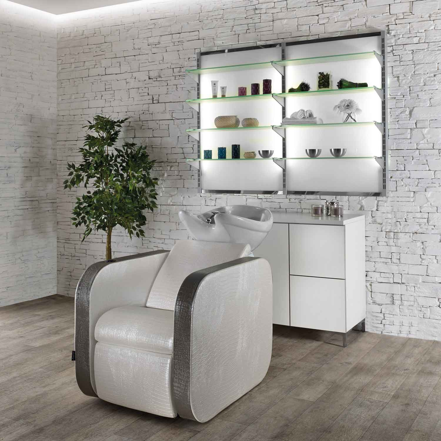 Double Icon Shampoo Station with 2 Chairs by Salon Ambience alternative product image 4