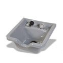 Square Grey Bowl with Chrome Faucet product image