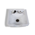 Square White Bowl with Chrome Faucet product image