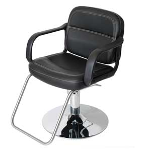 Black Landon Salon Styling Chair with Round Base product image