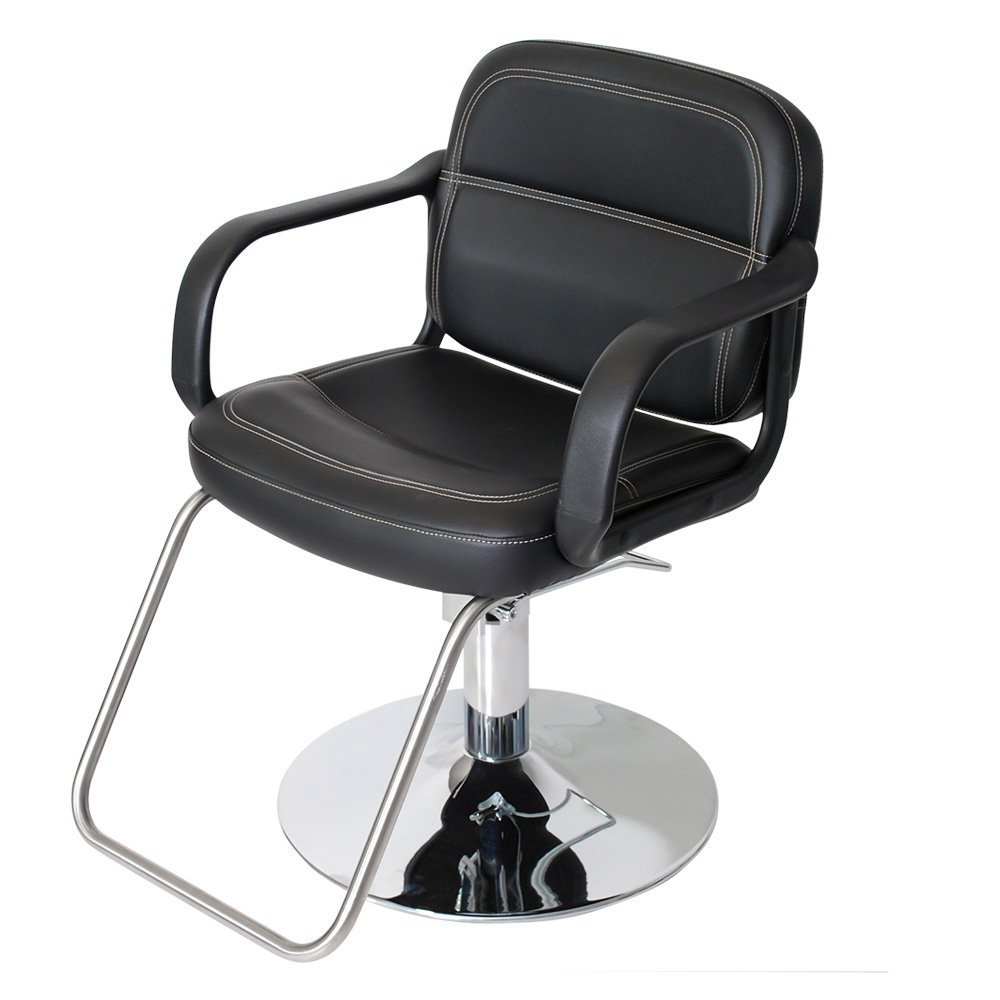 Black Landon Salon Styling Chair with Round Base  main product image