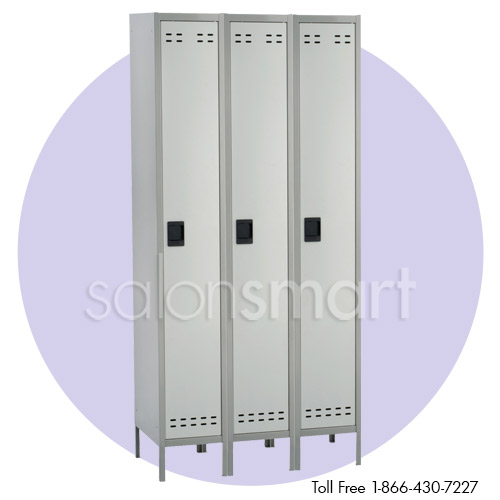 Set of 3 Single Column Lockers image size reference