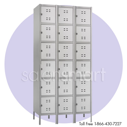 Spa and Salon 3 Column Box Lockers image size reference