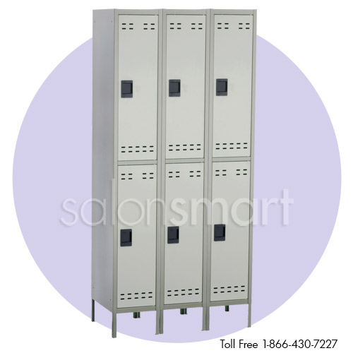 Double Tier 3 Column Steel Locker image size reference