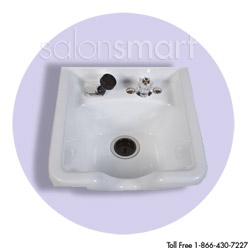 Square White Bowl with Chrome Faucet  main product image