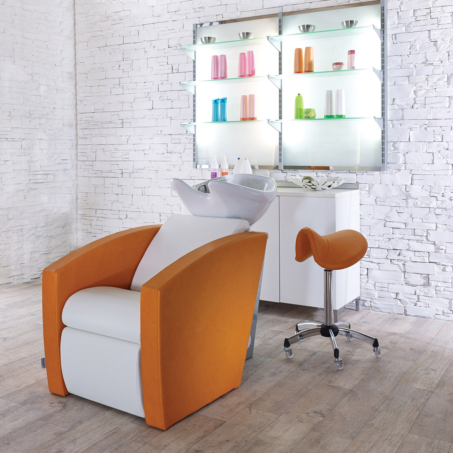 Mirage Shampoo Bowl with Chair by Salon Ambience alternative product image 2