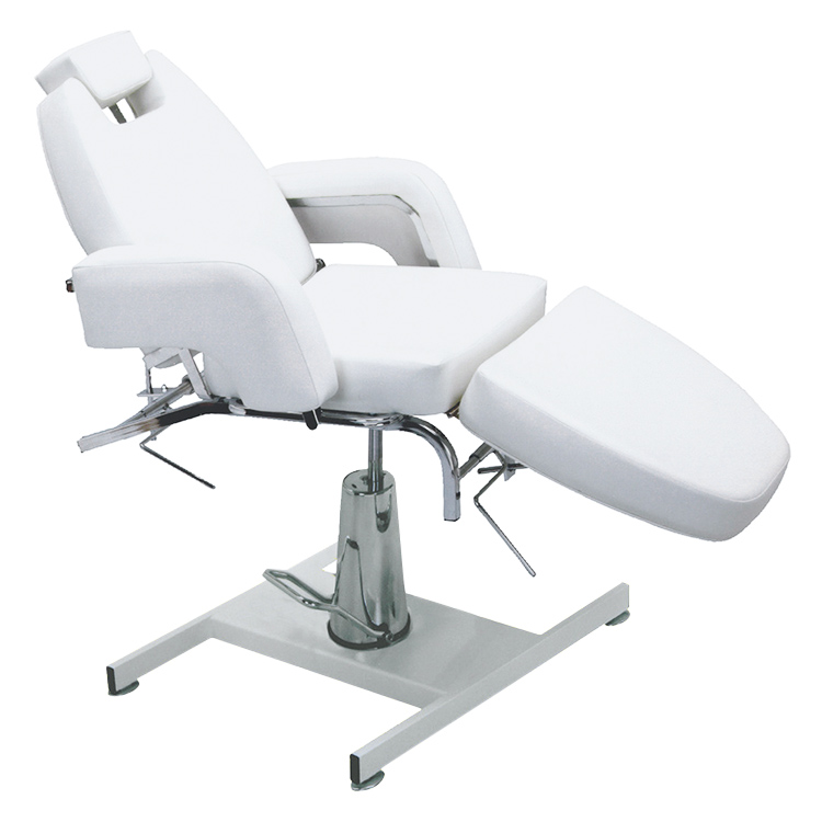 Pibbs HF803 Deluxe Facial Chair With Hydraulic Base  (Off-White)  main product image