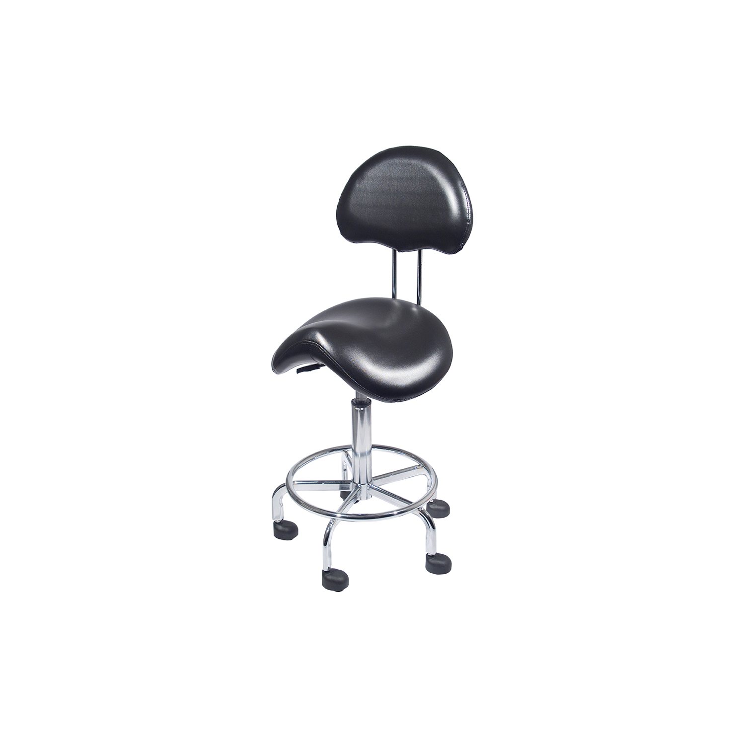 Countoured Stool with Back  main product image