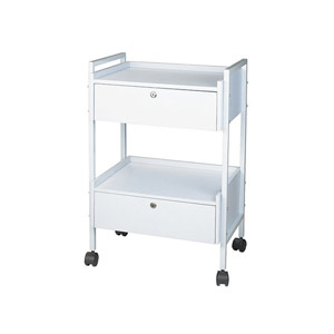 Dante+ Metal Locking Trolley Cart With Two Drawers product image
