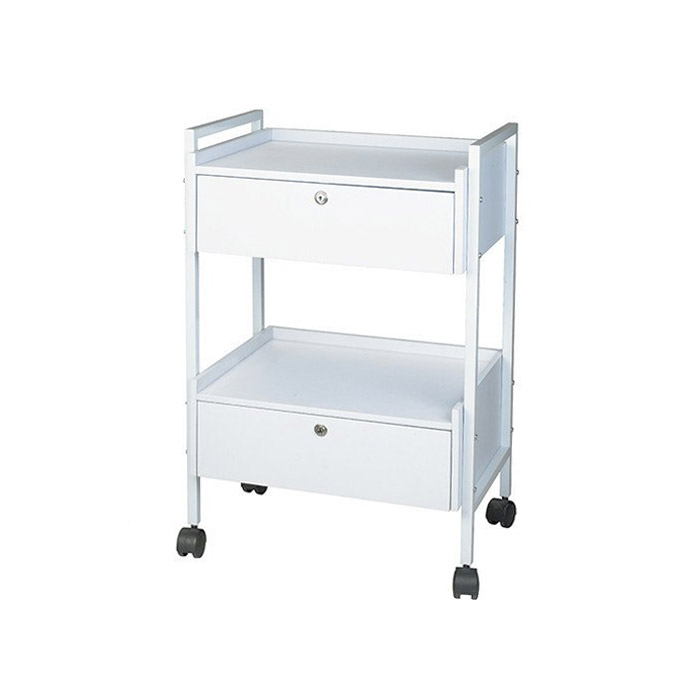 Dante+ Metal Locking Trolley Cart With Two Drawers  main product image
