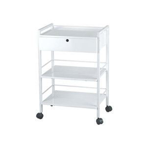 Dante Metal Trolley Cart With Locking Drawer product image