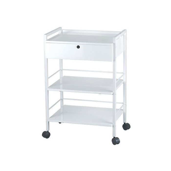 Dante Metal Trolley Cart With Locking Drawer  main product image
