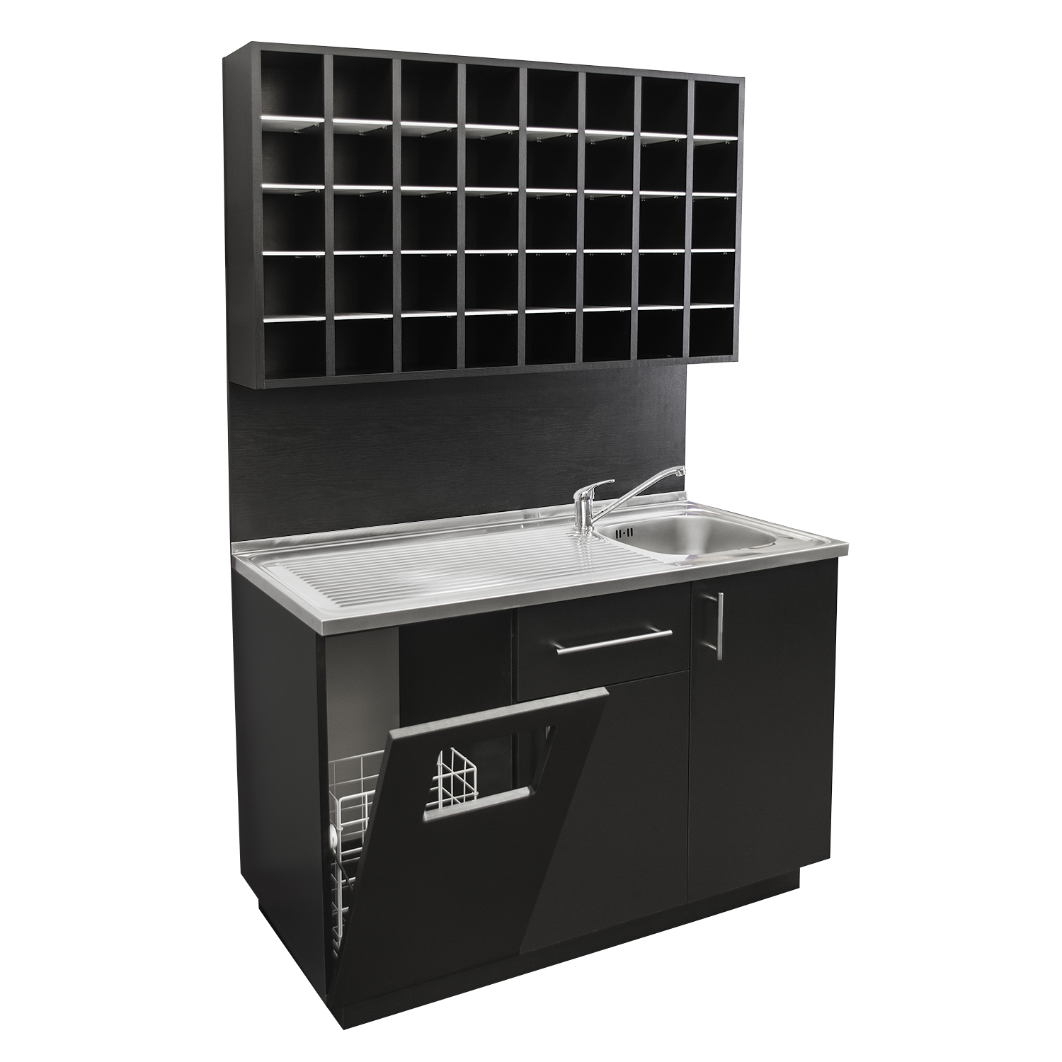 4' Color Mixing Station with Sink and Stainless Steel Counter alternative product image 5